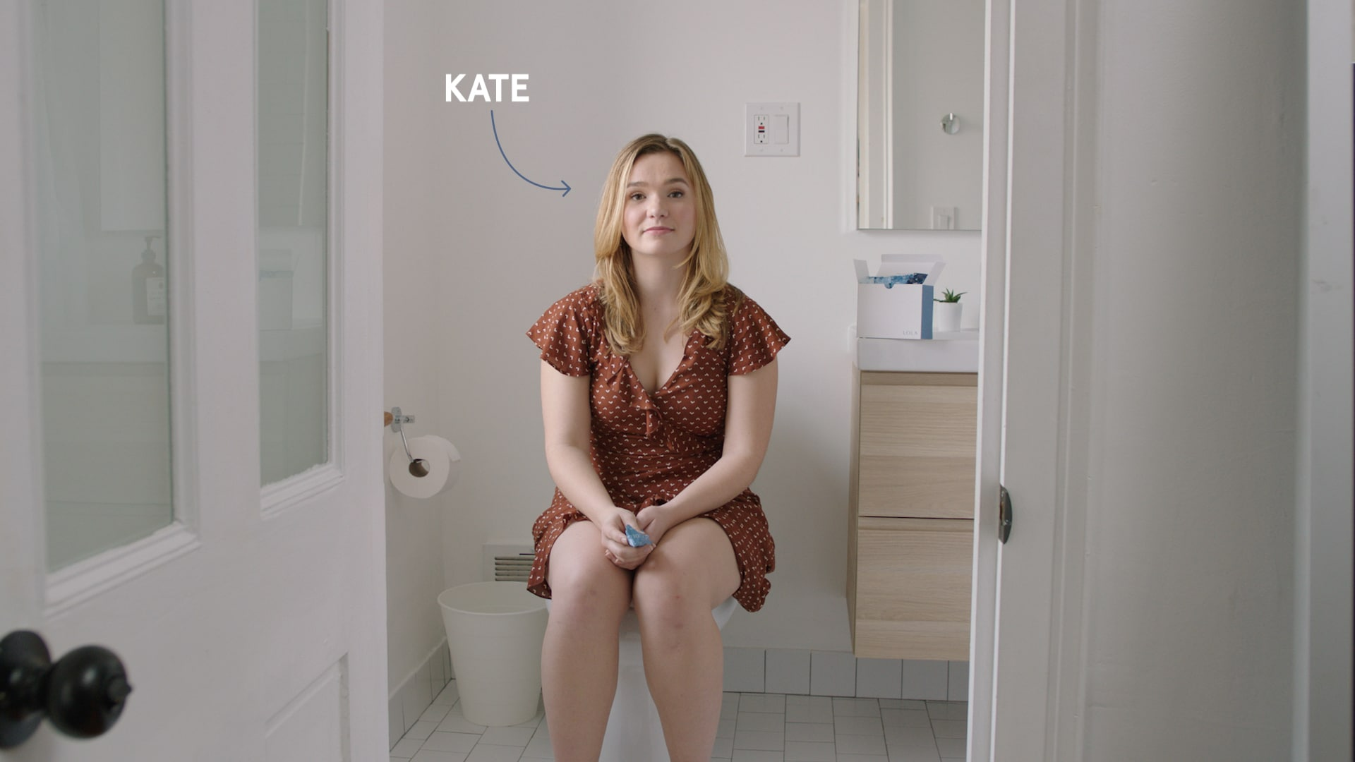 Kate on toilet